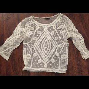 Topshop lace shirt